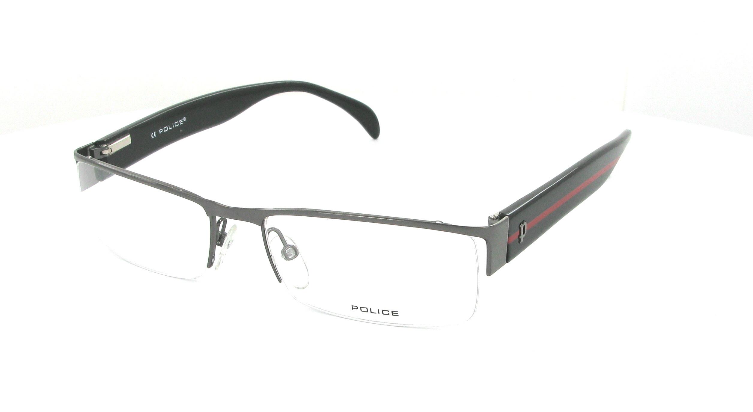 lunettes de vue police v8326 0568 55 17 homme gun noir rectangle nylor tendance 55mmx17mm 113. Black Bedroom Furniture Sets. Home Design Ideas