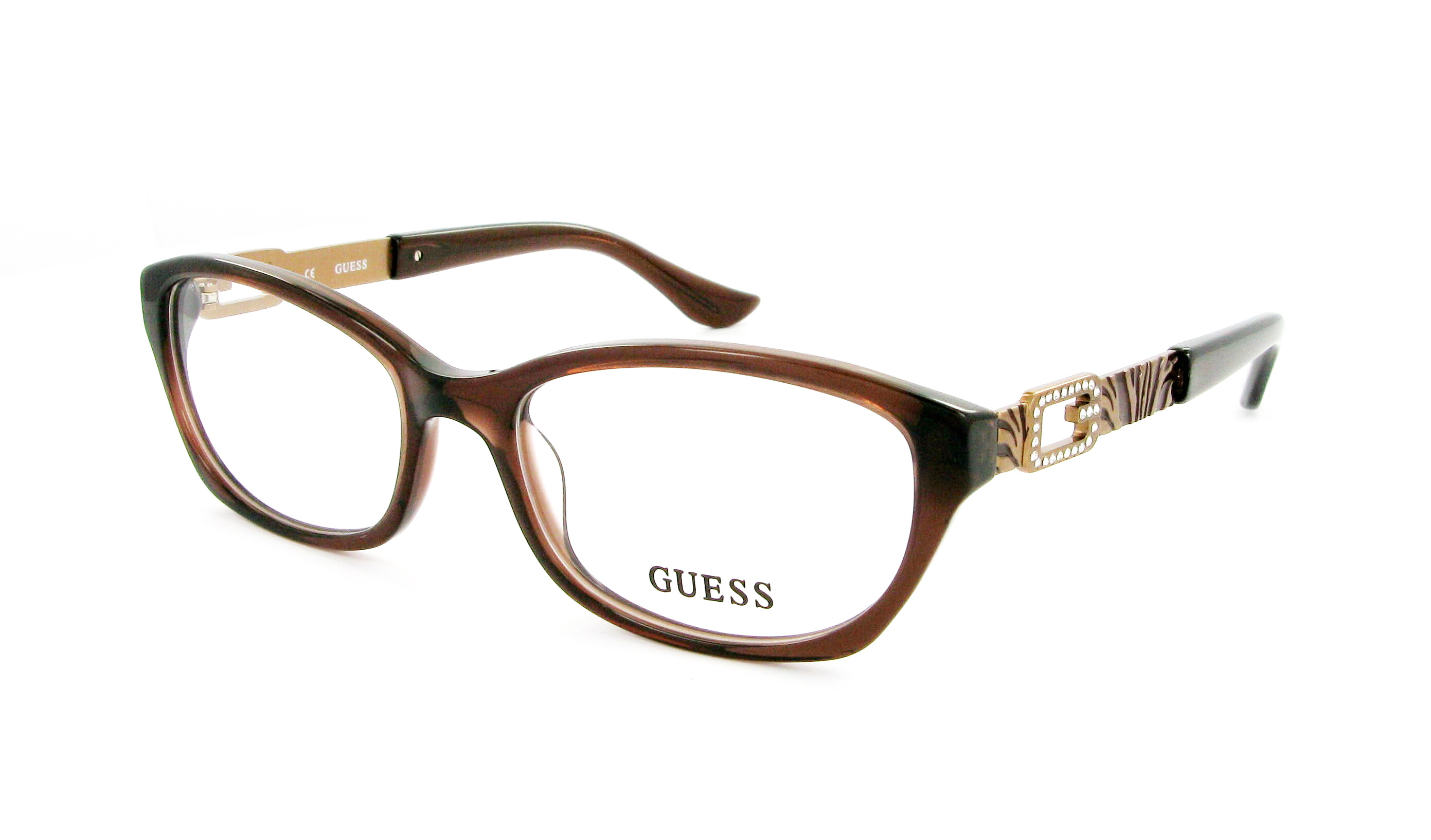 lunettes de vue guess gu 2287 brn 52 17 femme brun ovale cercl e tendance 52mmx17mm 117. Black Bedroom Furniture Sets. Home Design Ideas